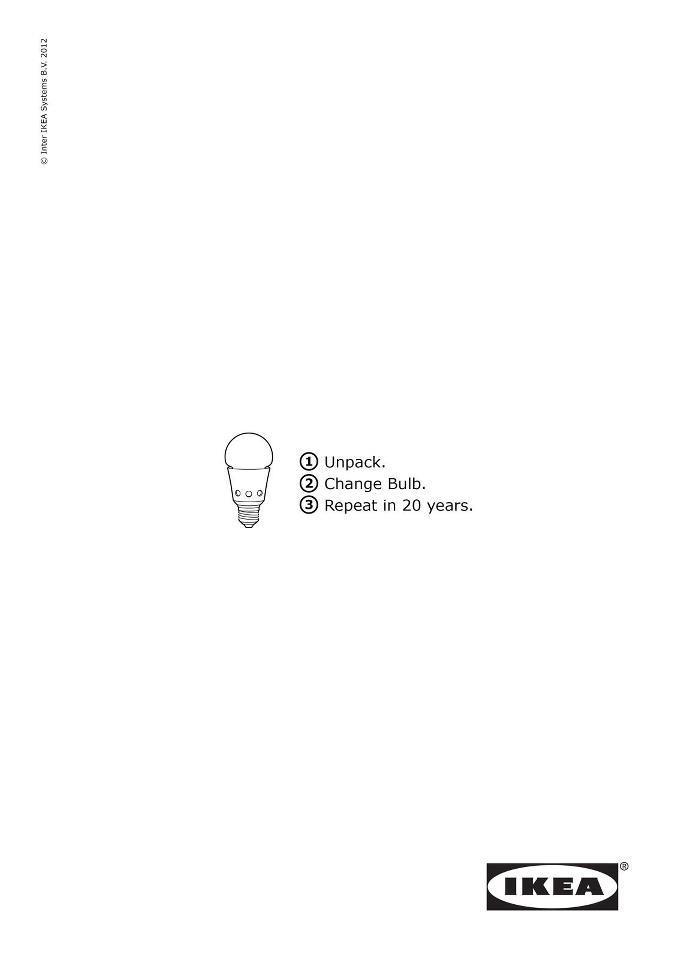 ikea istruzioni per le lampadine