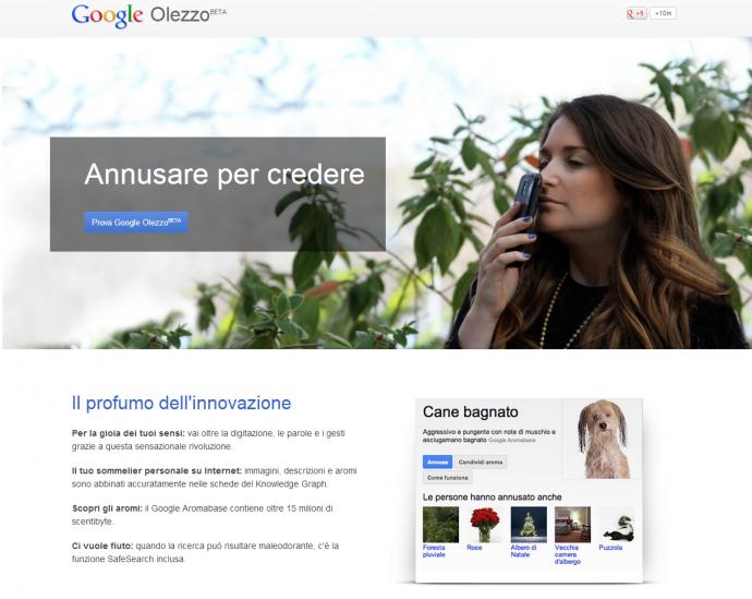 google olezzo - nose - primo aprile