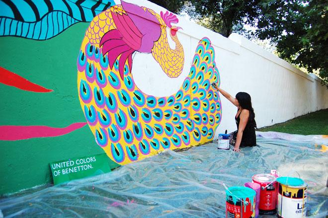 benetton urban art graffiti cile