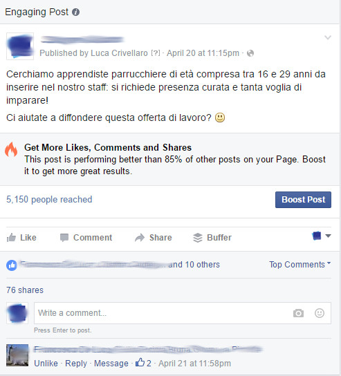 post virale facebook