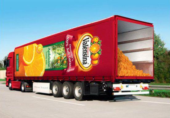 camion succo d'arancia