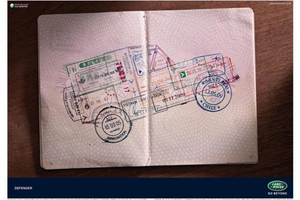 Land Rover e passaporto