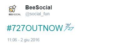hashtag con emoji #727outnow