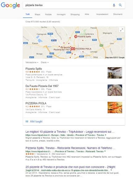 serp locale pagina locale risultati ricerca google
