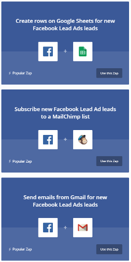zapier facebook lead ads automation