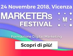 marketers festival 2018 sconti e programma