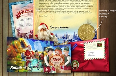 regalo di natale bambini e adulti lettera e video babbo natale
