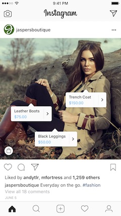 vendere su instagram post con tag prodotti